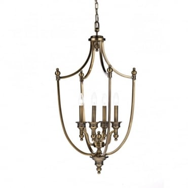 LOMBARD - Lantern Traditional Antique Brass