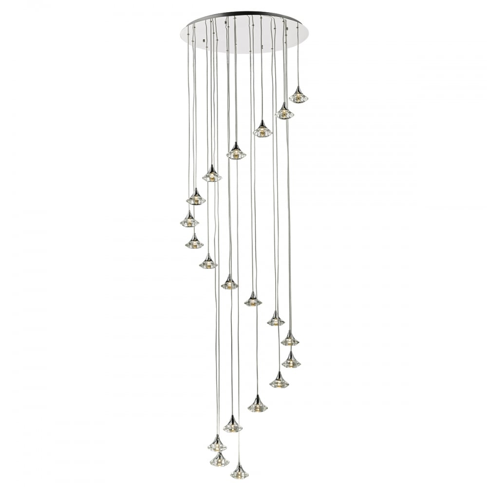 A statement long drop stairwell light fitting modern for Pendant lighting for high ceilings