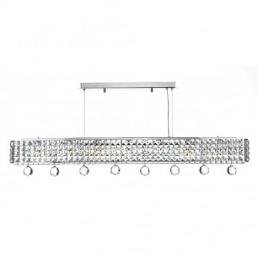 MATRIX - 6 Light Chrome Bar Ceiling Pendant