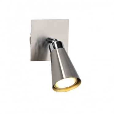 MAVERICK - Low Energy Wall Spotlight Satin Chrome