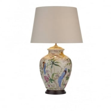 MIMOSA - Table Lamp White/ Floral/ Bird Base Only