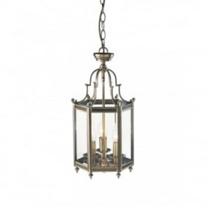 MOORGATE - Traditional Antique Brass Hall Lantern