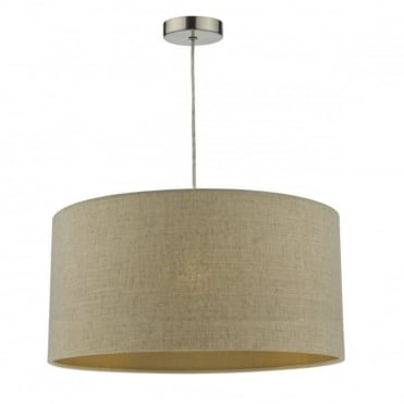 MYRA - Easy Fit 45Cm Linen Gold Sheen Taupe