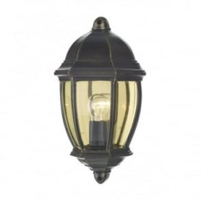 NEWPORT - Exterior Traditional Black/Gold Outdoor Wall Light