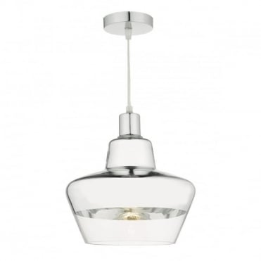 NISBET - Easy Fit Pendant Chrome And Clear