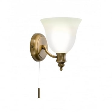 OBOE - Traditional Antique Brass Bathroom Wall Light