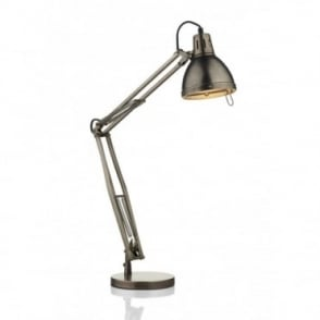 OSAKA - Adjustable Antique Chrome Reading Desk Light
