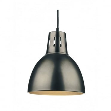 OSAKA - Easy Fit Antique Chrome Metal Ceiling Pendant Light