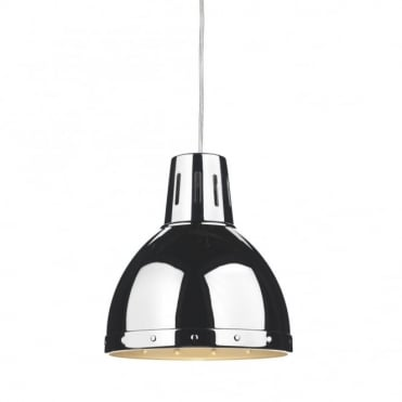 OSAKA - Retro Style Chrome Ceiling Pendant Light