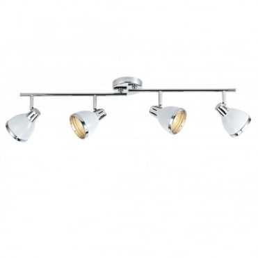 OSAKA - White Spotlight Bar With 4 Adjustable Spotlights