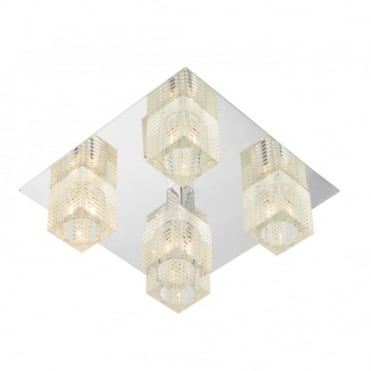 OSWALD - Square Flush Ceiling Ceiling Light For Low Ceilings