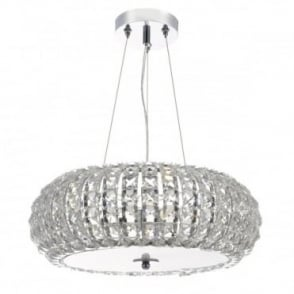 PIAZZA - 3 Light Ceiling Pendant K9 Crystal Clear