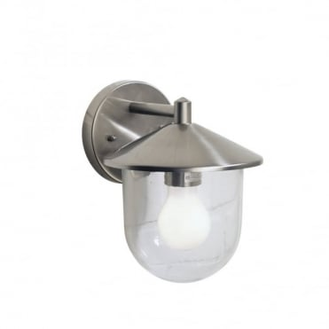 POOLE - Exterior Stainless Steel Garden Wall Lantern