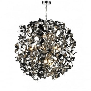 PUCCINI - Modern Chrome Ball Ceiling Pendant Light