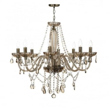 RAPHAEL - Double Insulated Champagne Glass 8 Light Chandelier