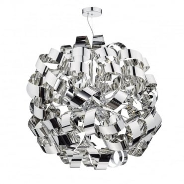 RAWLEY - 12 Light Ceiling Pendant Polished Chrome