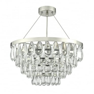 SCEPTRE - 3 Light Ceiling Pendant Polished Chrome Clear Polished Chrome