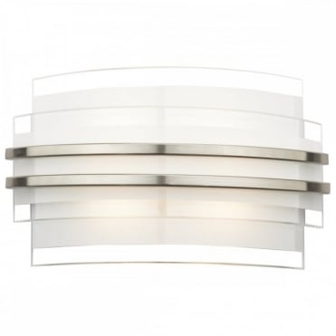 SECTOR - LED Double Trim Contemporary LED Wall Light (Small)