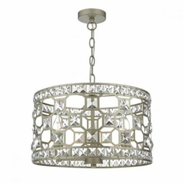 SOIRE - Gold and Crystal 3lt Ceiling Pendant