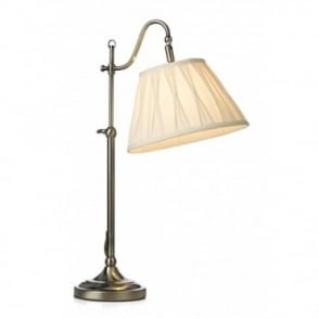 SUFFOLK - Adjustable Antique Brass Table Reading Lamp