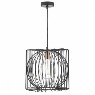 TAPLOW - Single Pendant in Black and Copper