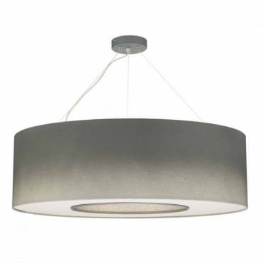 TAVIRA - 6lt Pendant in Silver Grey with Diffuser