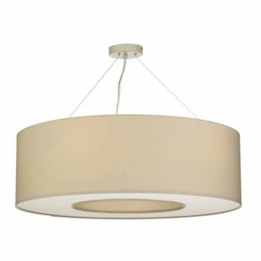 TAVIRA - 6lt Pendant in Taupe with Diffuser