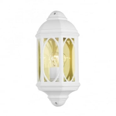 TENBY - Exterior Flush Fitting Wall Light White