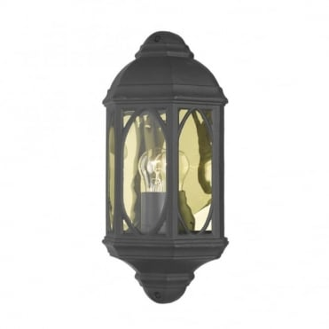 TENBY - Flush Fitting Garden Wall Light Black