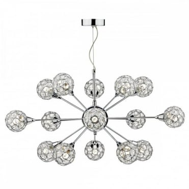 TOGA - 15 Light Ceiling Pendant Polished Chrome