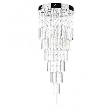 TOKYO - Large Modern Crystal Feature Light For High Ceilings