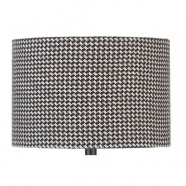 TRUMAN - Black And White Check Floor Lamp Shade