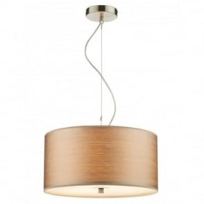 TUSCAN - Taupe String Drum Shade Ceiling Pendant