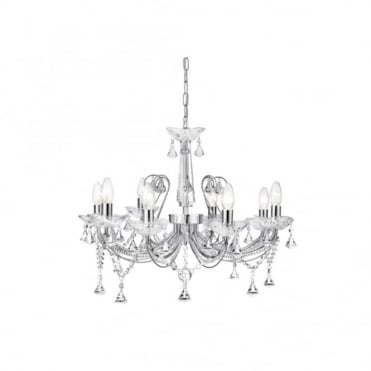 LAFAYETTE - 8 Light Ceiling Pendant Chrome Crystal