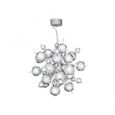 MOLECULE - 12 Light Polished Chrome Statement Ceiling Pendant