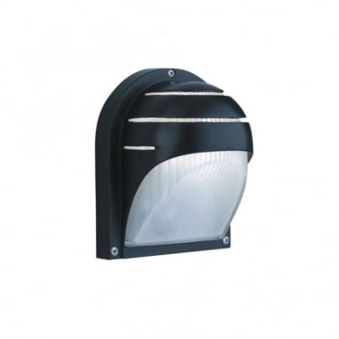 OUTDOOR AND PORCH - Exterior Wall Light Black Aluminium Half Moon