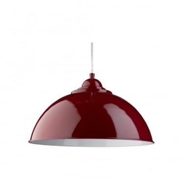 SANFORD - Ceiling Pendant Half Dome Red