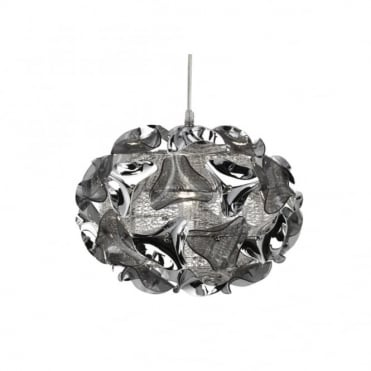 TRIANGLE - Statement Chrome And Smokey Acrylic Ceiling Pendant
