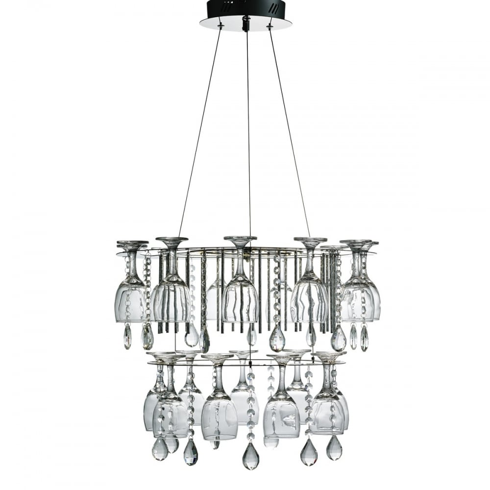 wine lovers chandelier chrome led perfect in kitchens and over tables