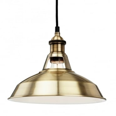 ALBANY Pendant, Antique Brass