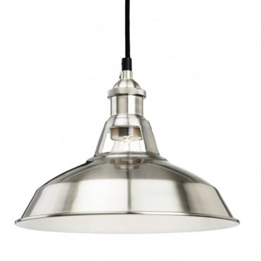 ALBANY Pendant, Brushed Steel