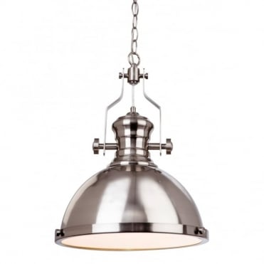 ALBION - Pendant Brushed Steel