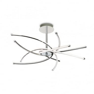 CAPRICE LED Semi Flush Fitting, Chrome