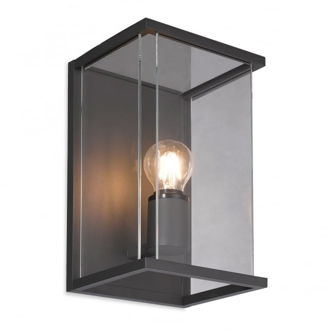 CARLTON - Exterior Outdoor Wall Light Clear Glass In Graphite