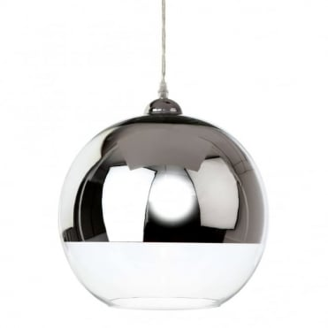 CLUB - Pendant Chrome And Clear Glass