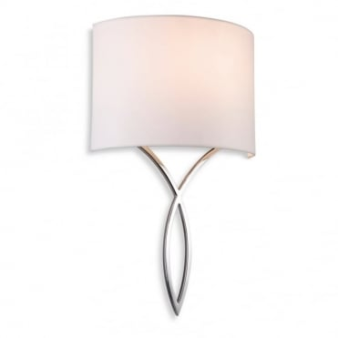 CONRAD - Wall Light Chrome With Cream Shade