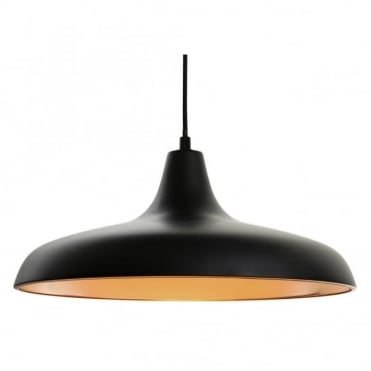 CURTIS Pendant, Matt Black with Matt Copper Inside