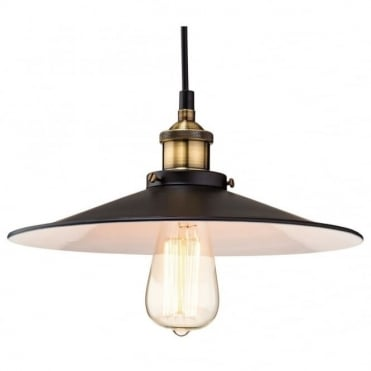 EMPIRE - Black With Antique Brass Ceiling Pendant