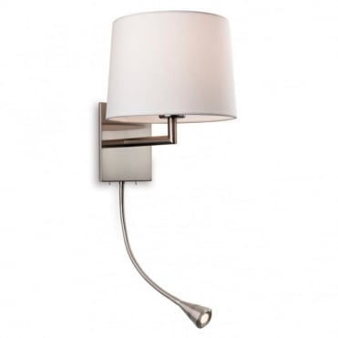 the lighting collection. GRAND 2 Light Wall (Switched), Brushed Steel With Cream Shade · The Lighting Collection
