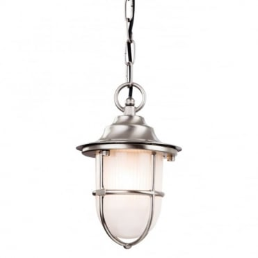 NAUTIC - Exterior Outdoor Pendant Brass With Frosted Glass